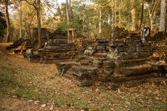 Αρχαίες καταστροφές σε Angkor Thom, Καμπότζη Στοκ Εικόνα