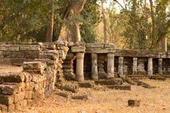Αρχαίες καταστροφές σε Angkor Thom, Καμπότζη Στοκ εικόνες με δικαίωμα ελεύθερης χρήσης