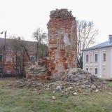 Αρχαίες καταστροφές σε Novgorod Στοκ Εικόνα