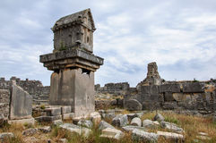 Αρχαίες καταστροφές σε Patara, Τουρκία Στοκ Φωτογραφίες