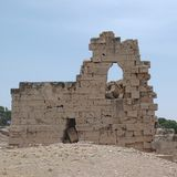 Αρχαίες καταστροφές σε Tolemaide Στοκ φωτογραφία με δικαίωμα ελεύθερης χρήσης