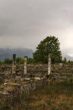 Αρχαίες καταστροφές στην περιοχή του Dion Archeological στην Ελλάδα Στοκ Εικόνα