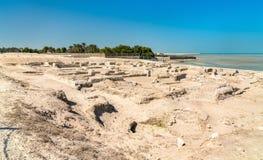 Αρχαίες καταστροφές στο οχυρό του Μπαχρέιν Μια περιοχή παγκόσμιων κληρονομιών της ΟΥΝΕΣΚΟ Στοκ φωτογραφίες με δικαίωμα ελεύθερης χρήσης