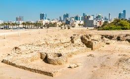 Αρχαίες καταστροφές στο οχυρό του Μπαχρέιν Μια περιοχή παγκόσμιων κληρονομιών της ΟΥΝΕΣΚΟ Στοκ Φωτογραφία