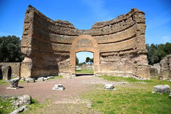Αρχαίες καταστροφές της βίλας Adriana, Tivoli, Ιταλία στοκ εικόνα με δικαίωμα ελεύθερης χρήσης