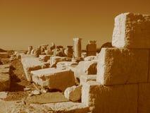 Αρχαίες καταστροφές της Μεσογείου, ναοί, κιονοστοιχίες Στοκ Φωτογραφία