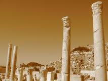 Αρχαίες καταστροφές της Μεσογείου, ναοί, κιονοστοιχίες Στοκ εικόνες με δικαίωμα ελεύθερης χρήσης