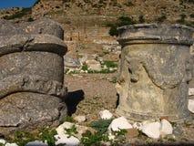 Αρχαίες καταστροφές της Μεσογείου, ναοί, κιονοστοιχίες Στοκ Εικόνα