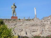 Αρχαίες καταστροφές της Πομπηίας Στοκ Φωτογραφίες