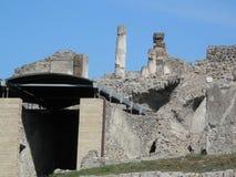 Αρχαίες καταστροφές της Πομπηίας Στοκ εικόνα με δικαίωμα ελεύθερης χρήσης