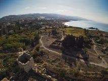 Αρχαίες καταστροφές της πόλης Byblos, Λίβανος Στοκ Φωτογραφίες