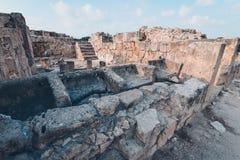 Αρχαίες καταστροφές της Kato Pafos, Κύπρος στοκ εικόνα
