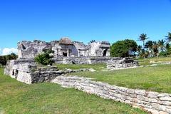 Αρχαίες καταστροφές της Maya σε Tulum Στοκ Φωτογραφία