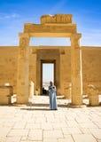 Αρχαίες καταστροφές του μεγάλου ναού Hatshepsut Στοκ Εικόνες