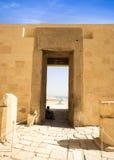 Αρχαίες καταστροφές του μεγάλου ναού Hatshepsut Στοκ εικόνες με δικαίωμα ελεύθερης χρήσης