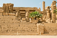 Αρχαίες καταστροφές του ναού Karnak στην Αίγυπτο Στοκ Εικόνα