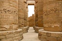 Αρχαίες καταστροφές του ναού Karnak στην Αίγυπτο Στοκ Φωτογραφίες