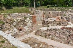 Αρχαίες καταστροφές των θερμικών λουτρών Diocletianopolis, πόλη Hisarya, Βουλγαρία Στοκ Φωτογραφίες