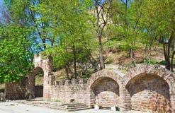 Αρχαίες καταστροφές φρουρίων Terebovlia (Ουκρανία). Στοκ Φωτογραφία