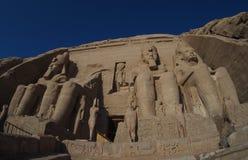 Αρχαίες καταστροφές Abu Simbel, κοιλάδα της Αιγύπτου, Νείλος Στοκ Εικόνες