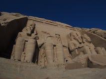 Αρχαίες καταστροφές Abu Simbel, κοιλάδα της Αιγύπτου, Νείλος Στοκ φωτογραφία με δικαίωμα ελεύθερης χρήσης