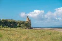 Αρχαίες καταστροφές Castle Greenan Ayrshire Σκωτία στοκ εικόνα