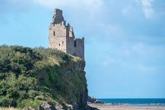 Αρχαίες καταστροφές Castle Greenan Ayrshire Σκωτία στοκ εικόνες