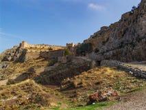 Αρχαίες καταστροφές Corinth στοκ εικόνες