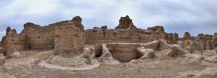 Αρχαίες καταστροφές Jiaohe σε Turpan στη αυτόνομη περιοχή Xinjiang Uighur της Κίνας Στοκ Εικόνες