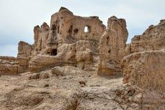 Αρχαίες καταστροφές Jiaohe σε Turpan στη αυτόνομη περιοχή Xinjiang Uighur της Κίνας Στοκ εικόνες με δικαίωμα ελεύθερης χρήσης