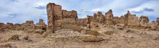 Αρχαίες καταστροφές Jiaohe σε Turpan στη αυτόνομη περιοχή Xinjiang Uighur της Κίνας Στοκ εικόνα με δικαίωμα ελεύθερης χρήσης