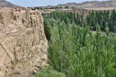 Αρχαίες καταστροφές Jiaohe σε Turpan στη αυτόνομη περιοχή Xinjiang Uighur της Κίνας Στοκ φωτογραφία με δικαίωμα ελεύθερης χρήσης