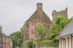 Αρχαίες καταστροφές Seagate Castle Irvine Σκωτία που επισκέπτεται από τη βασίλισσα της Mary σκωτσέζικου στοκ εικόνες