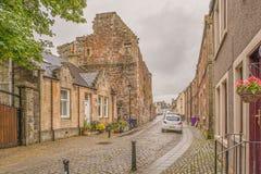 Αρχαίες καταστροφές Seagate Castle Irvine Σκωτία που επισκέπτεται από τη βασίλισσα της Mary σκωτσέζικου στοκ εικόνες με δικαίωμα ελεύθερης χρήσης