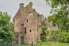 Αρχαίες καταστροφές Seagate Castle Irvine Σκωτία που επισκέπτεται από τη βασίλισσα της Mary σκωτσέζικου στοκ φωτογραφία με δικαίωμα ελεύθερης χρήσης