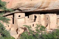 Αρχαίες κατοικίες απότομων βράχων Verde Mesa στοκ φωτογραφίες