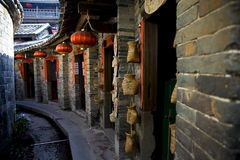 Αρχαίες κινεζικές κατοικίες Στοκ Φωτογραφία