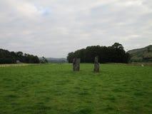 Αρχαίες μόνιμες πέτρες κάτω Largie σε Kilmartin, Σκωτία, UK Στοκ Εικόνες