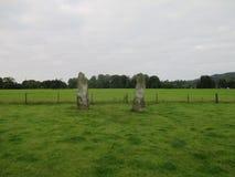 Αρχαίες μόνιμες πέτρες κάτω Largie σε Kilmartin, Σκωτία, UK Στοκ Φωτογραφίες