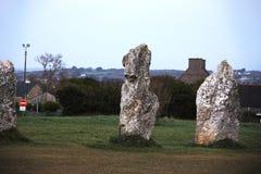 Αρχαίες μόνιμες πέτρες με το αλλοδαπό πρόσωπο στοκ εικόνες