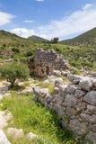 Αρχαίες οχύρωση και πύλη σε Mycenae, Πελοπόννησος, Ελλάδα Στοκ εικόνες με δικαίωμα ελεύθερης χρήσης