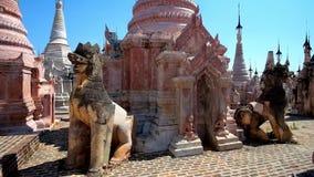 Αρχαίες παγόδες Kakku, Taunggyi, το Μιανμάρ απόθεμα βίντεο