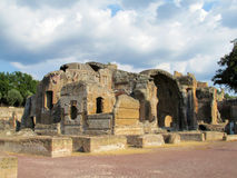 Αρχαίες παλαιές καταστροφές της βίλας Adriana, Tivoli Ρώμη Στοκ Εικόνα
