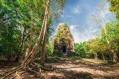 Αρχαίες προ καταστροφές ναών Angkor Sambor Prei Kuk Καμπότζη Στοκ Φωτογραφία
