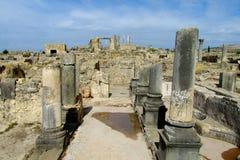 Αρχαίες πόλης καταστροφές, αψίδα και στήλες Volubilis Στοκ φωτογραφίες με δικαίωμα ελεύθερης χρήσης