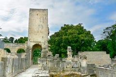 Αρχαίες ρωμαϊκές καταστροφές σε Arles, Γαλλία Στοκ εικόνες με δικαίωμα ελεύθερης χρήσης