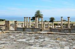 Αρχαίες ρωμαϊκές καταστροφές στην ακτή Στοκ εικόνα με δικαίωμα ελεύθερης χρήσης