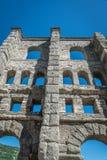 Αρχαίες ρωμαϊκές καταστροφές στην πόλη Aosta, Ιταλία Στοκ Φωτογραφίες
