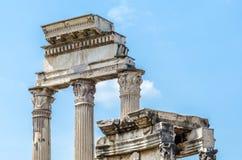 Αρχαίες ρωμαϊκές καταστροφές στην πόλη Aosta, Ιταλία Στοκ εικόνες με δικαίωμα ελεύθερης χρήσης