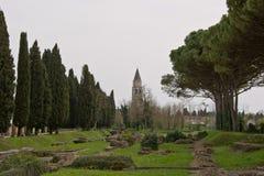 Αρχαίες ρωμαϊκές καταστροφές του λιμένα σε Aquileia, Ιταλία Στοκ εικόνα με δικαίωμα ελεύθερης χρήσης